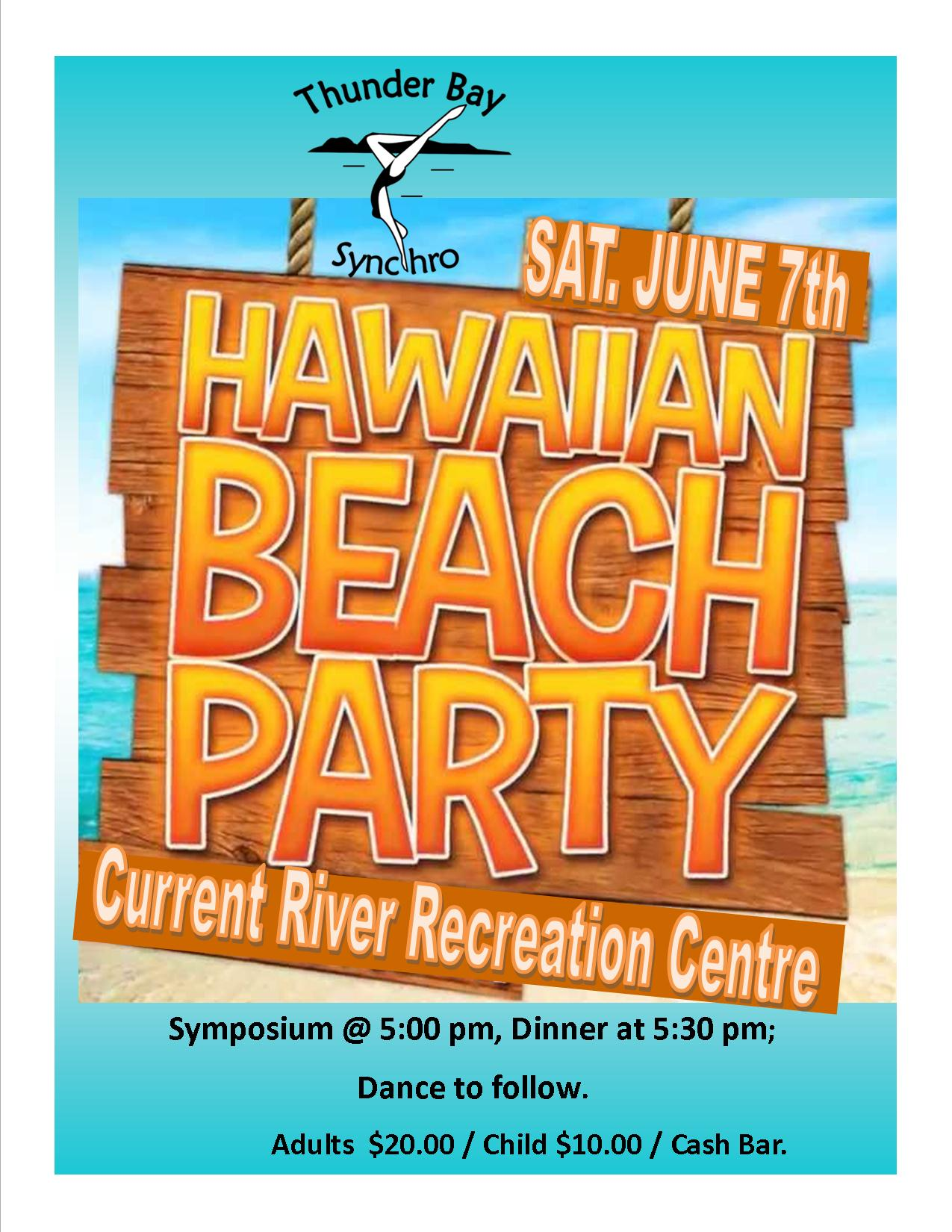 hawaiian beach party banquet invite 2014