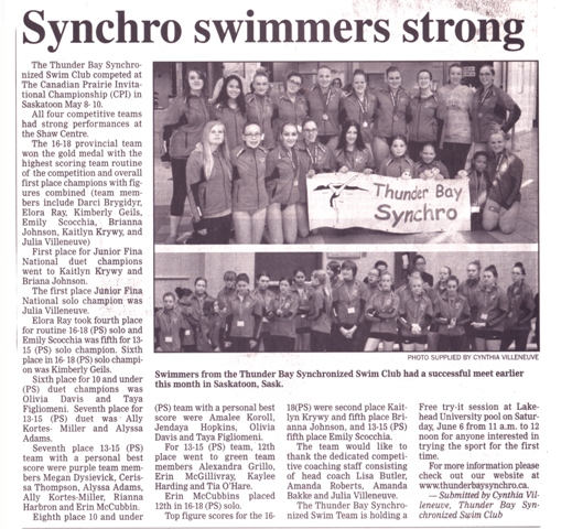 Synchro Swimmers strong webtwo