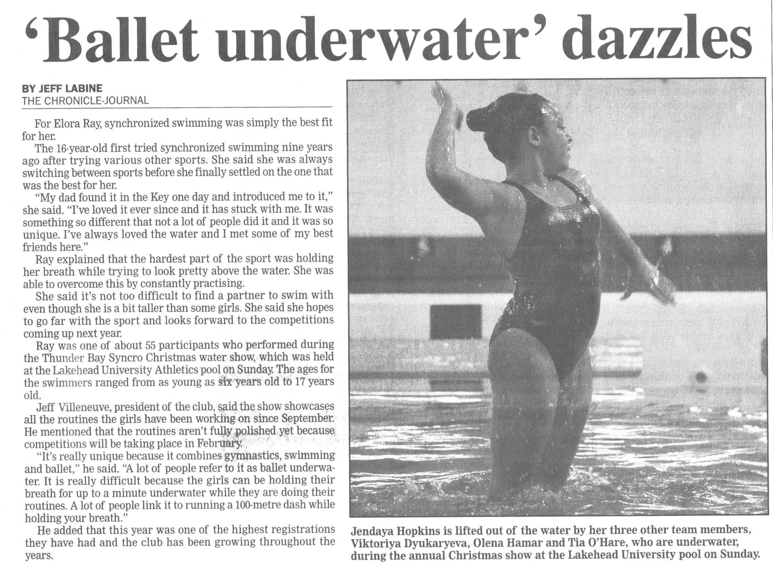 christmas watershow article cj